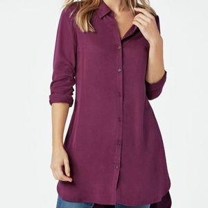 Tops - Purple Button Down Tunic